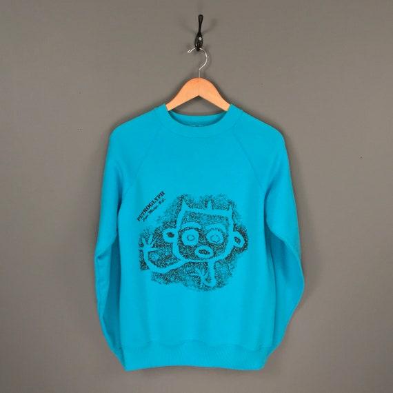 80s Petroglyph Cape Mudge B.C. Souvenir Crew Neck Sweatshirt.  d6d39aacc6