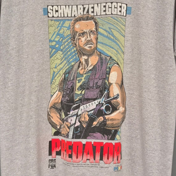 80 s T-Shirt. prédateur du film Promo T-Shirt. s Incroyable Vintage 1987 Twentieth Century Fox Film Movie Tee Schwarzenegger collection PREDATOR T-Shirt. cdbaa2