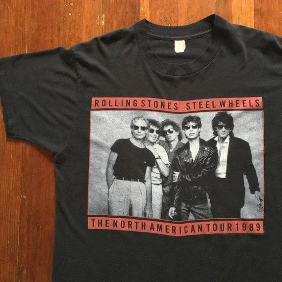Vintage 80s Rolling Stones Steel Wheels Tour T-Shi