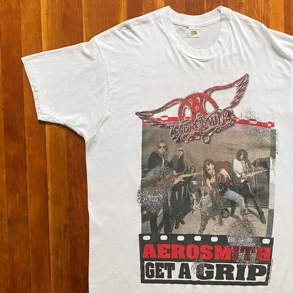 Size XL Vintage 90s Single Stitch Aerosmith Get A Grip Band Tee