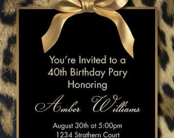 Customized-Birthday Invitation-Digital Printable Download
