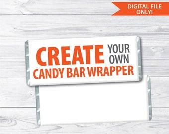 Candy Bar Wrapper Etsy