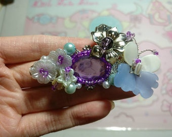 Chinese Sliver and Butterfly and Pearls Flower  Hair Accessories Hair Comb Hair Clip Hair Stick Hair Pins