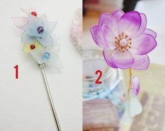 Chinese Sliver Flowers Twig Hair Accessories Hair Clip Hair Pins Hair Stick