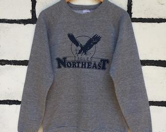 Rare Vintage Eagles Northeast Sweatshirt Eagles Logo Nice Design