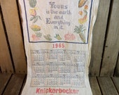 Vintage Knickerbocker Cloth Calendar