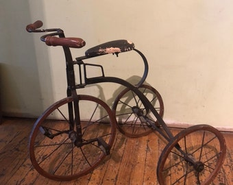 fe60e30a483 Antique tricycle   Etsy