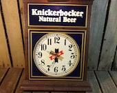 Vintage Knickerbocker Beer Light Clock, The Clock Part Does Not Work