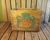 Vintage Canada Dry Crate 1962