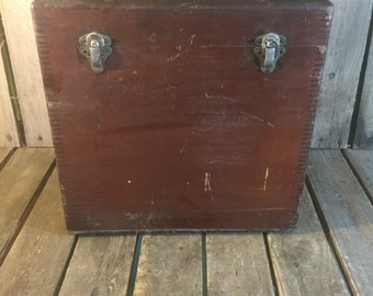 Vintage Wooden File Box