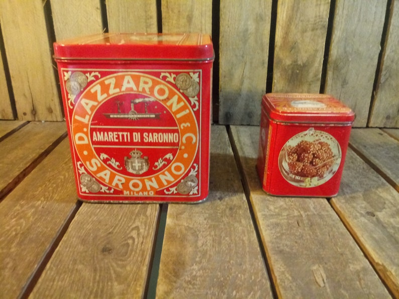 Vintage Candy Tin Cans Vintage Tin Cans
