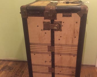 Vintage Hartman Tweed Wardrobe Trunk