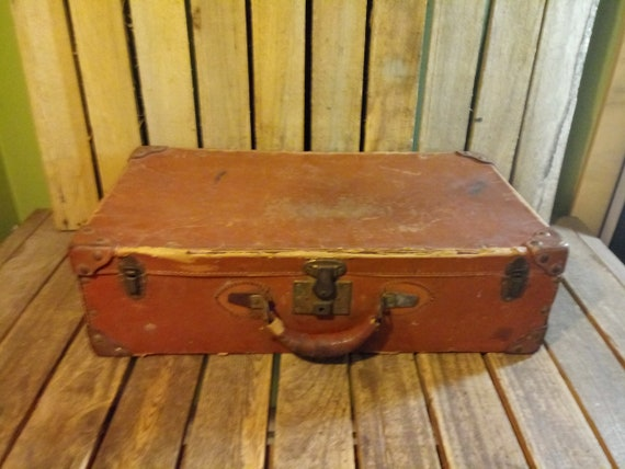 Vintage Distressed Suitcase
