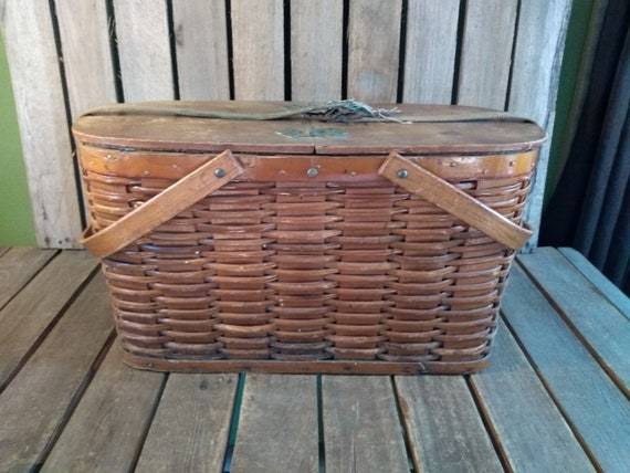 Kühlschrank Korb : Hawkeye korb kühlschrank vintage kühler picknickkorb etsy
