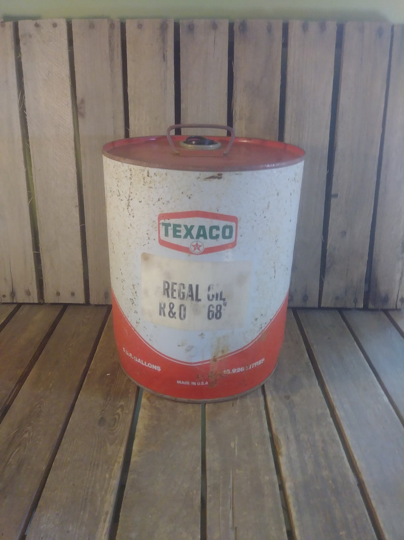 Texaco Oil Can, Vintage Dented Oil Cans