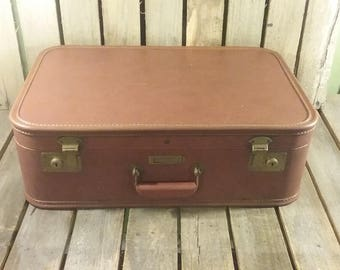 Vintage Brown Suitcase, JC Higgins Suitcase