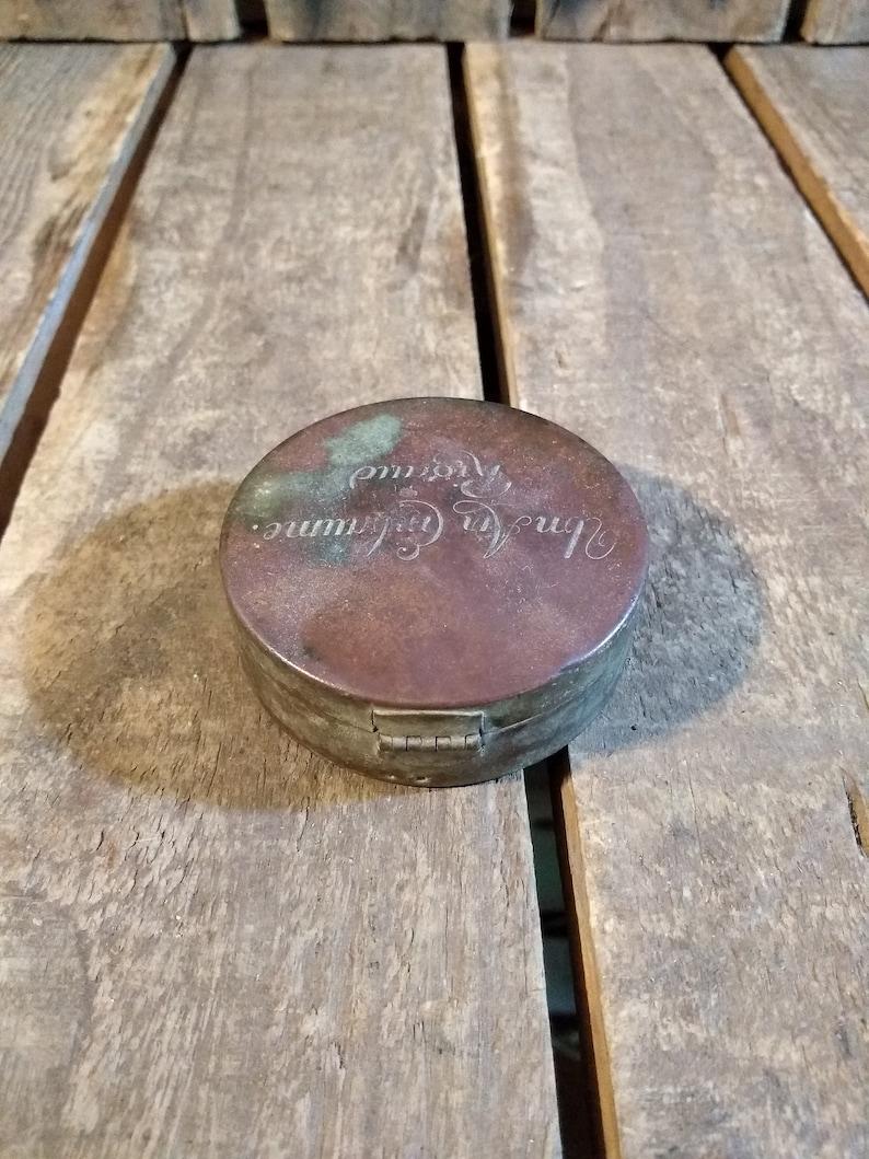 Small Makeup Storage Compact Box Antique Makeup Box