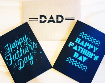 Happy Father's Day card - lasercut card , Father's Day gift