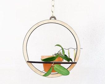 wooden plant holder, wall planter, wall art plant, laser cut, pot hanger, Bohemian Home Décor, living room decor, Hanging Planter