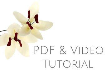 Flower tutorial - Lily - PDF tutorial - felt