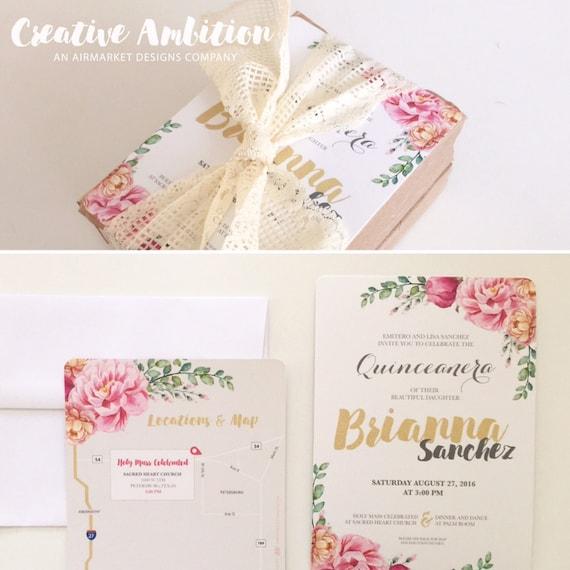 Unforgettable image regarding printable quinceanera invitations