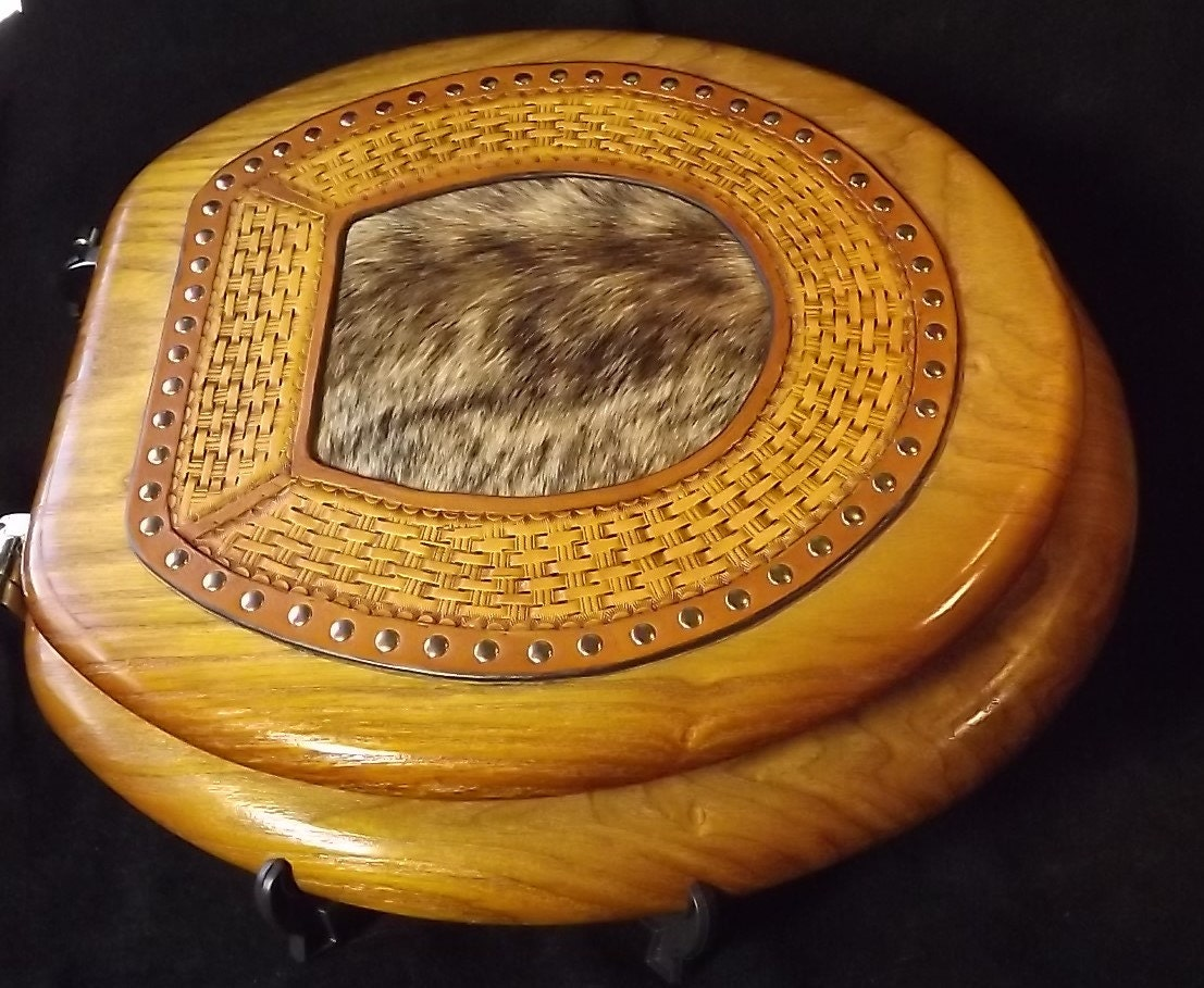 Cool Hand Tooled Leather Oak Toilet Seat And Cover Forskolin Free Trial Chair Design Images Forskolin Free Trialorg