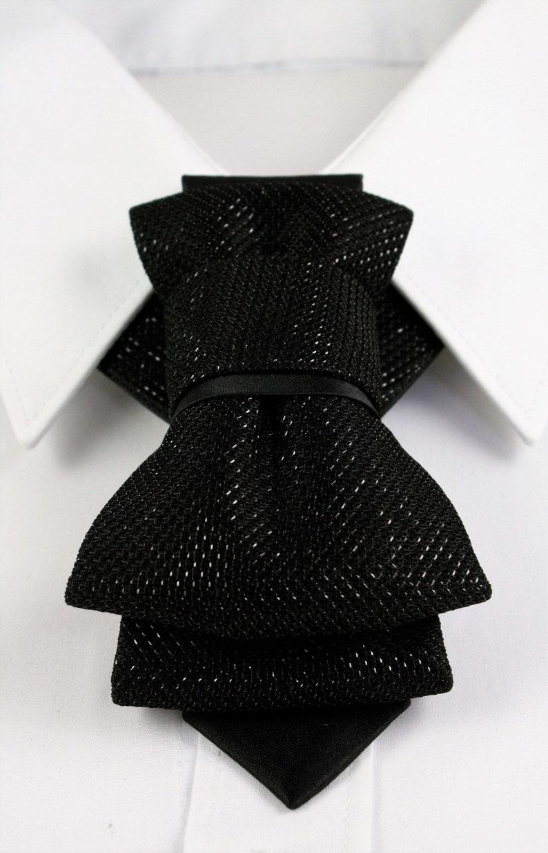 Party necktie Wedding bow tie Black tie Original bow tie Groom necktie