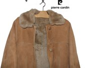 1970 39 s Pierre Cardin sheepskin shearling coat french vintage designer