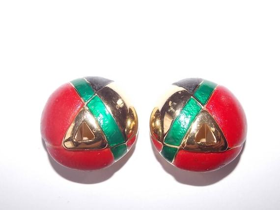 Lanvin Paris brand vintage french clip earrings  - image 1