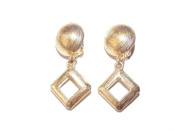 Jacques Esterel Paris vintage french clip earrings