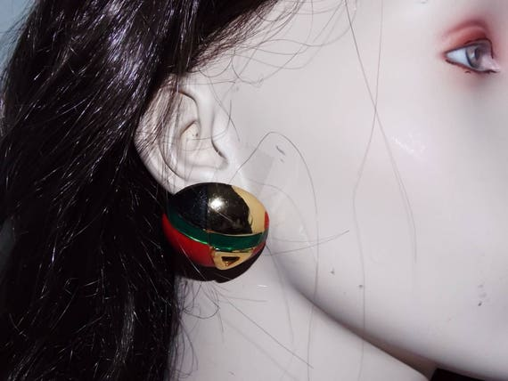 Lanvin Paris brand vintage french clip earrings  - image 3