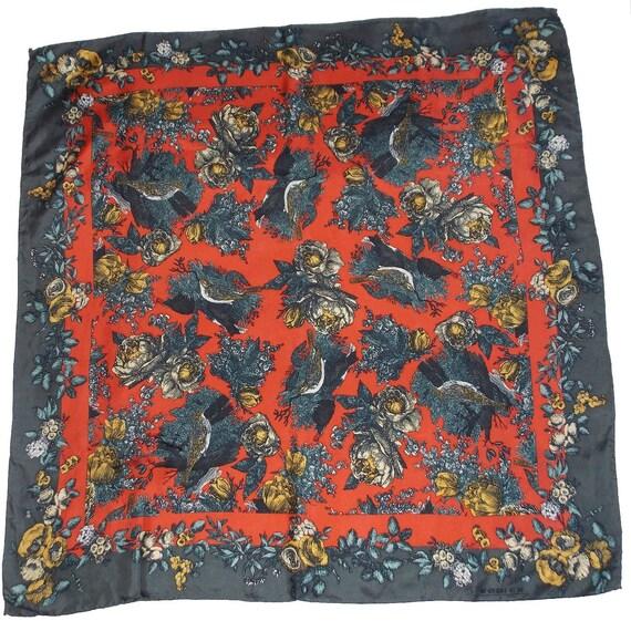Vintage silk scarf frech designer Rodier