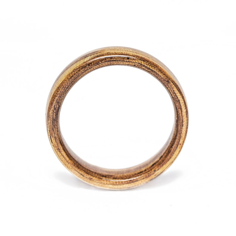 wooden ring mens wooden ring Handmade engagement ring Zebrano wood Bentwood Ring wood wedding ring wedding band