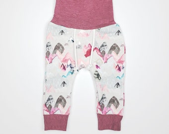 b58dd94f6083 Toddler Baby Organic Cotton Joggers Baby Girl Pink Mauve