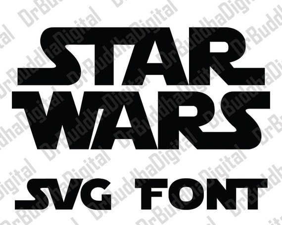 star wars font svg collection star wars alphabet dxf star wars letter clipart svg files for silhouette cameo or cricut from drbuddhadigital on etsy