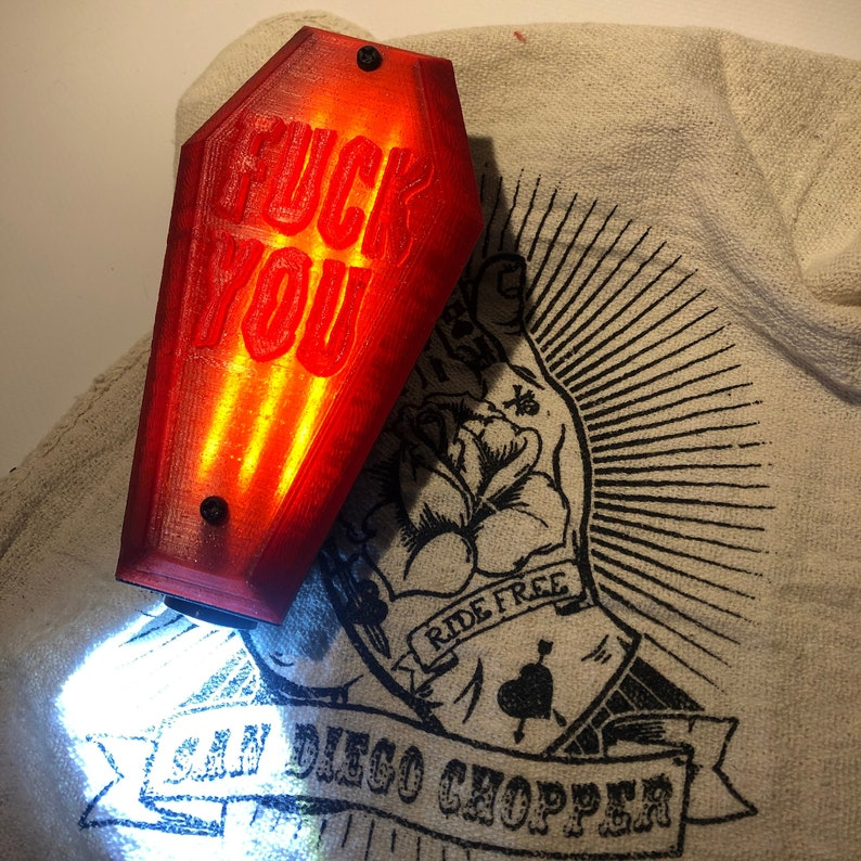 coffin tail light /F-CK YOU image 0