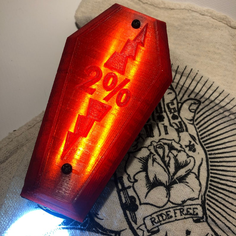 coffin tail light /2% image 0