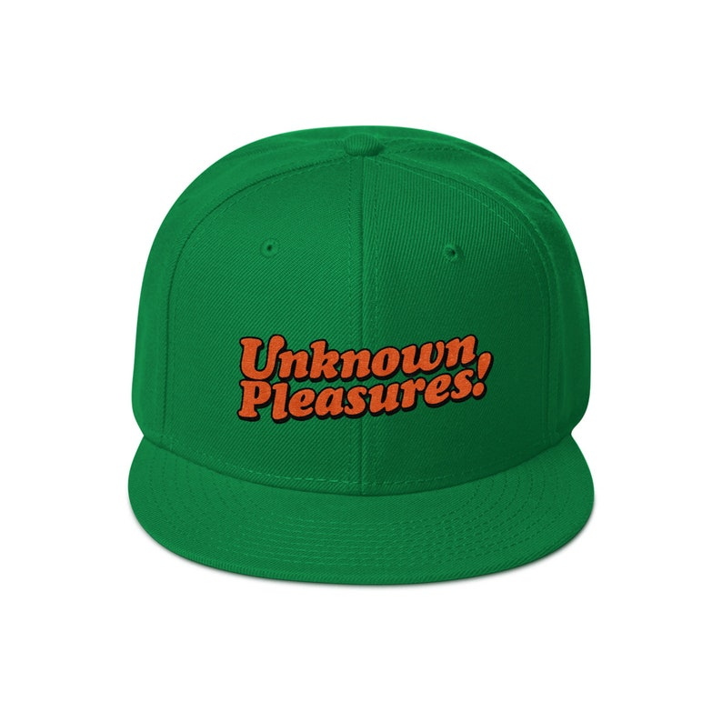 Unknown Pleasures Snapback Hat Kelly green