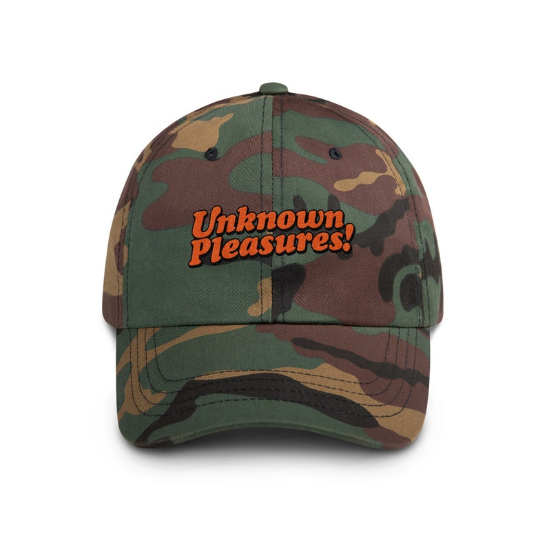 Unknown Pleasures Unstructured Hat Green Camo