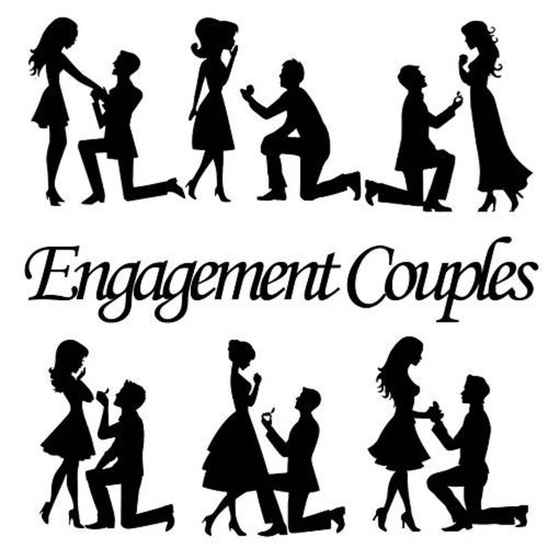 36e05e3ce Compromiso par silueta recortable clasificados parejas forma