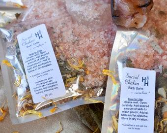 Sacral Chakra Bath Salts ~ Chakra Balancing ~ Reiki Healing Infused ~ Spiritual Cleanse ~ Energy Clearing ~ Aura Balancing