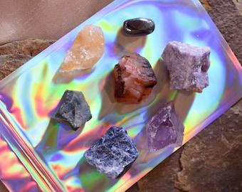 Sacred Stones ~ Crystal Kit ~ Reiki Healing ~ Spiritual Cleanse ~ Energy Clearing ~ Aura Balancing ~ Elements