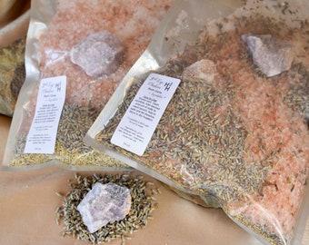 Third Eye Chakra Bath Salts ~ Chakra Balancing ~ Reiki Healing Infused ~ Spiritual Cleanse ~ Energy Clearing ~ Aura Balancing
