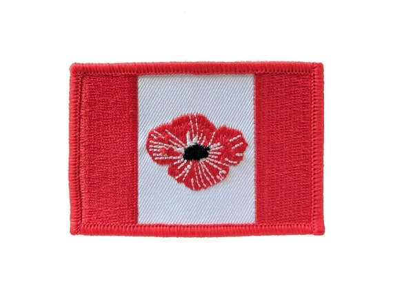 Poppy Embroidered Sew on VELCRO® patch