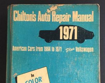 chilton s auto repair manual 1971 american cars 1964 1971 rh etsy com Haynes Auto Repair Manuals Chilton Auto Repair Manual Online
