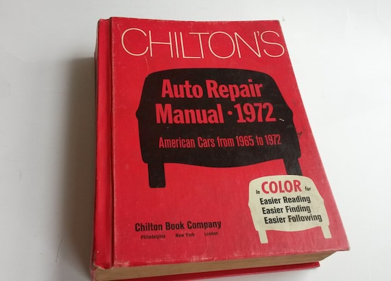 chilton s auto repair manual 1972 cars from 1965 1972 rh etsy com Chilton Auto Repair Manual Scout II Auto Repair Manuals Chilton 1964-1971