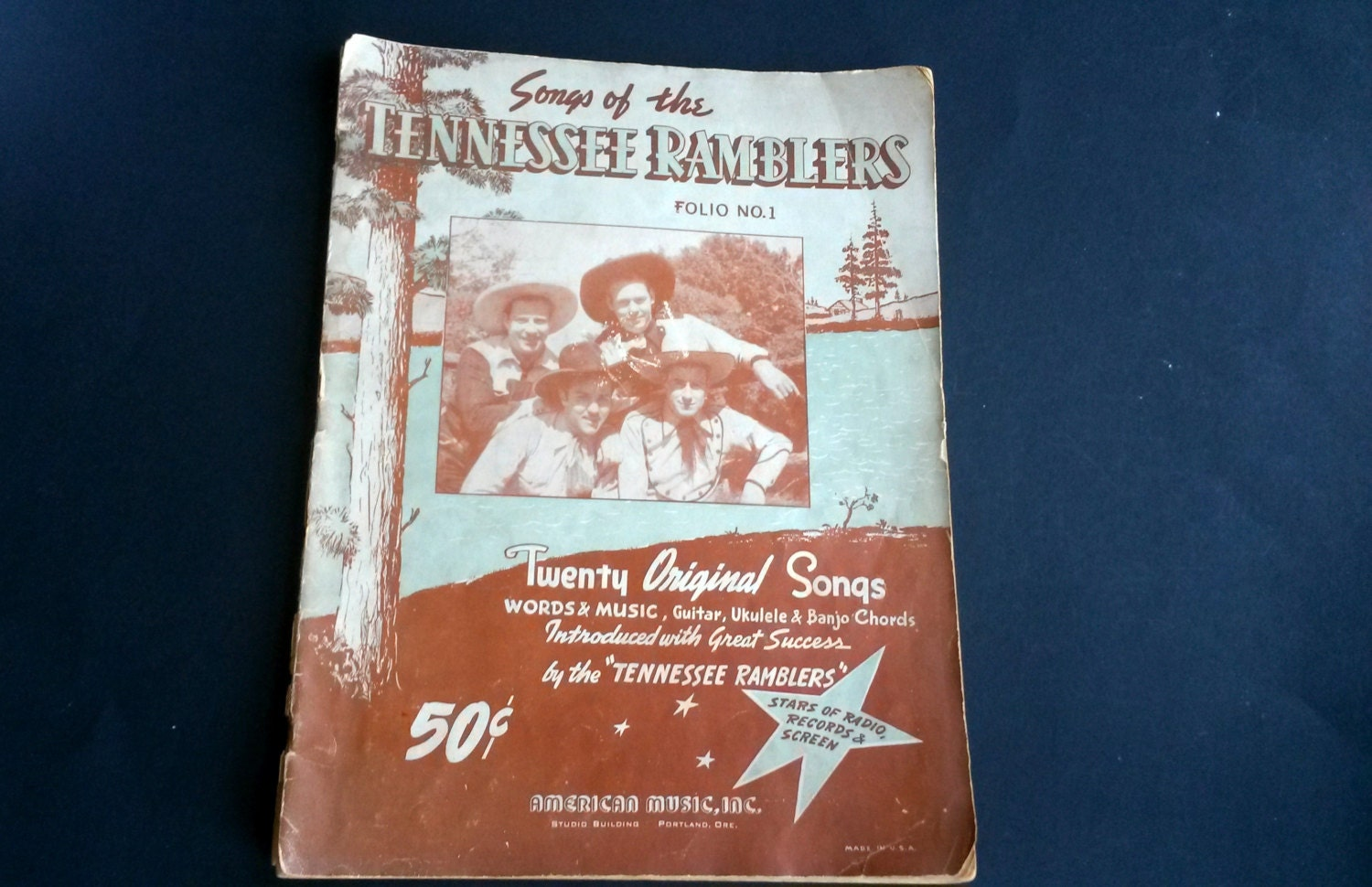 Songs Of The Tennessee Ramblers Words And Music Guitar Etsy