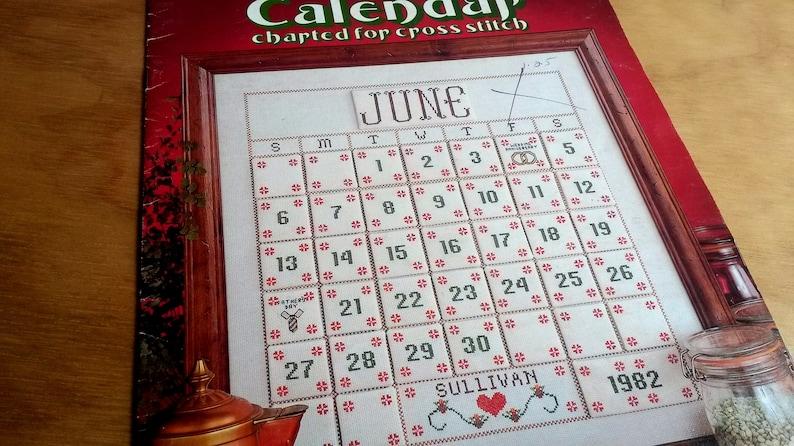 picture regarding Perpetual Calendar Chart named Perpetual Calendar Enjoyment Arts, Habit Leaflet #210 , 1981 Calendar Chart for Cross Sch - BB2