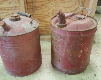 Oil Cans Man Cave Garage Decor DIY Rustic