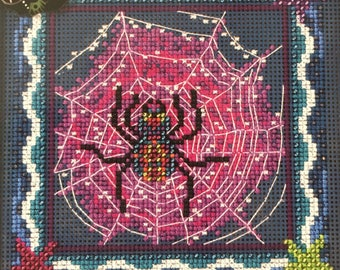 Cross Stitch Kit~Mill Hill Tangled Web Cross Stitch Kit~Halloween Cross Stitch~Spider Cross Stitch~Mill Hill Kit~Beaded Cross Stitch Kit